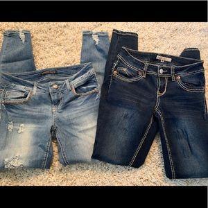 Jeans YMI Rue21 size 1/2 regular and 1 regular
